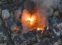 大阪府守口市の工場から出火 近隣住宅にも延焼