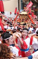 【動画あり】大阪で「ギャルみこし」 天神祭前に80人が練り歩き