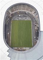 東京五輪開幕あと1年 新国立、芝生見えた
