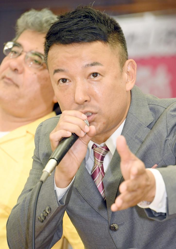 山本太郎氏の衆院選戦略に注目が集まる(酒巻俊介撮影)