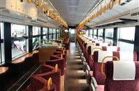 ご縁結びに行こう 城崎温泉-天橋立に宝箱イメージの観光列車「うみやまむすび」