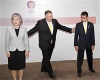 ポンペオ米国務長官、日韓対立の仲介案示さず 日米韓外相会談