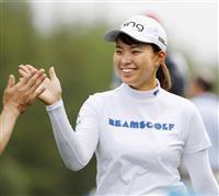 渋野日向子、1打差の2位に「びっくり」 全英女子ゴルフ
