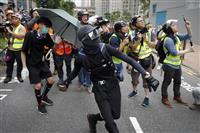 香港で再び大規模抗議 デモ2カ月、若者過激化