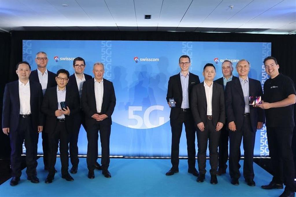チューリッヒで行われたSwisscomとの5Gローンチイベント