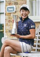 渋野が世界ランク14位 全英女子ゴルフVで五輪へ前進