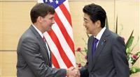 米国防長官、首相に「中国の略奪的な経済的行動は脅威」 同行記者団には有志連合を「日本は…