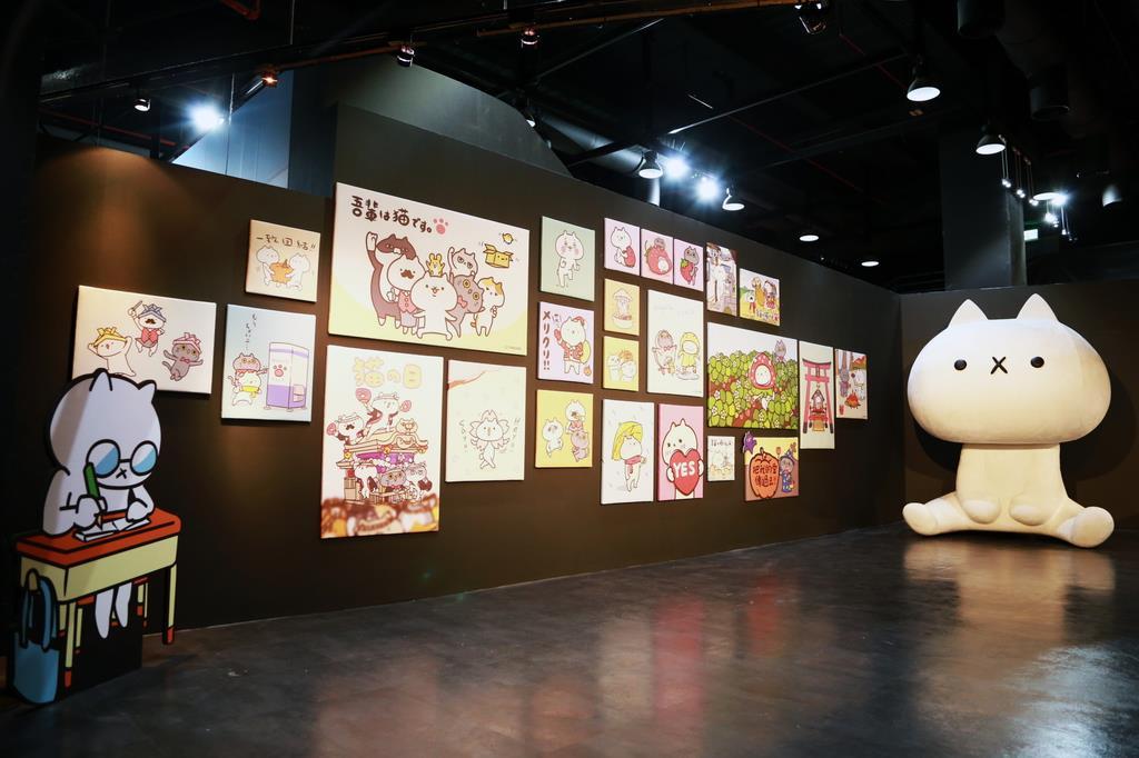 台湾でのイベント会場に設置された巨大「吾輩」