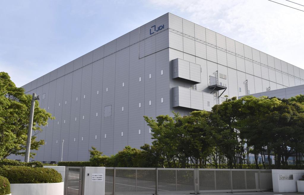 一時休止中のジャパンディスプレイ白山工場=石川県白山市