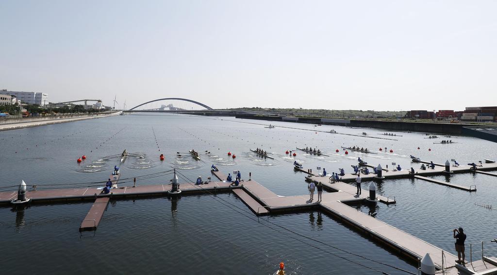 2020年東京五輪のテスト大会を兼ねて行われたボートの世界ジュニア選手権=海の森水上競技場