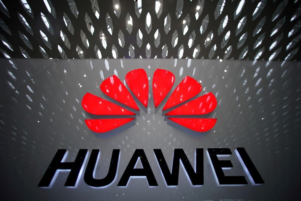 中国ファーウェイの企業ロゴ(ロイター)