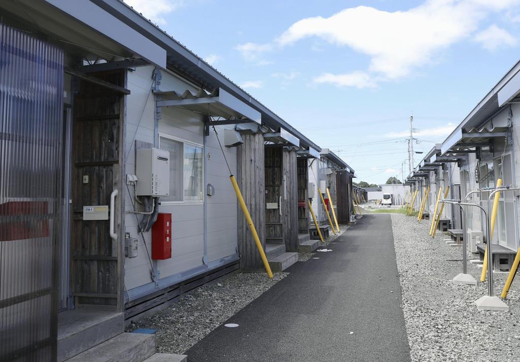 仮住まいする人が減少した熊本県益城町のテクノ仮設団地=12日