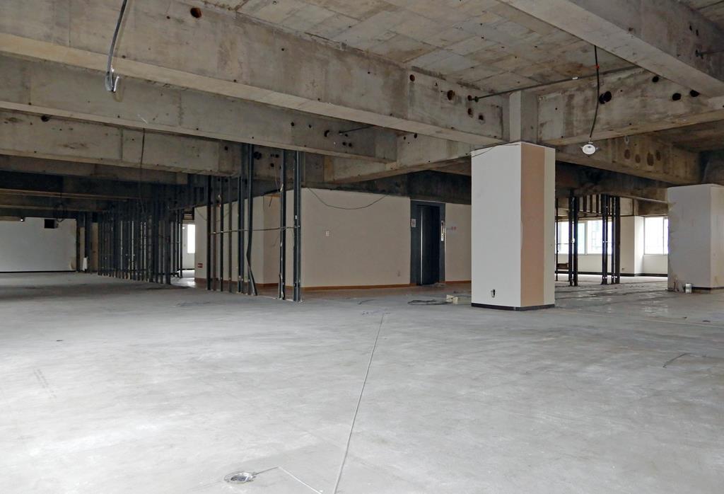 川崎大資容疑者らが平成29年11月に助成決定を受けた保育所の所在地。開設作業が進んでいる様子はない=7月1日、福岡市中央区(宮野佳幸撮影)