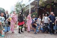 省エネで暑さ乗り切れ 仙台市中心部で打ち水イベント