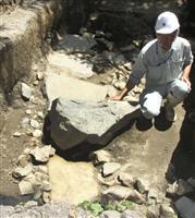 秀吉が造らせた石垣か 滋賀・長浜城跡で発見