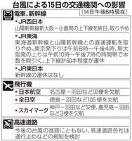 台風10号、四国に上陸見込み 各地の交通に多大な影響