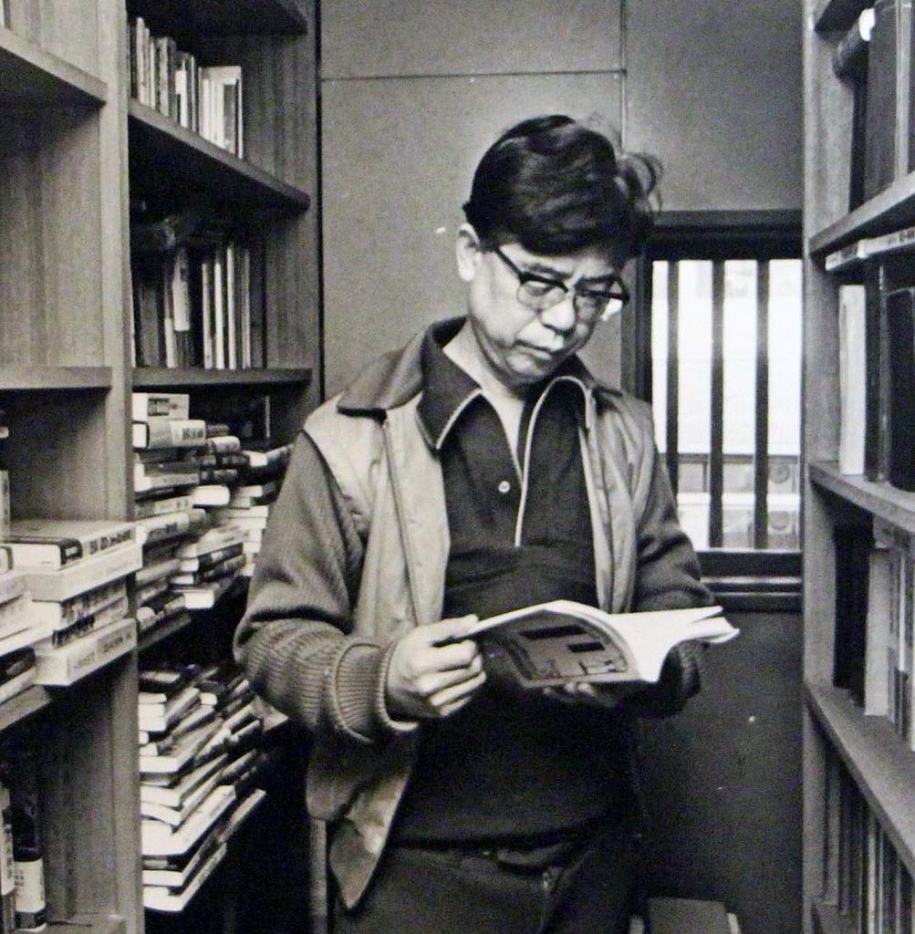 自宅書庫の山田風太郎(風太郎のアルバムから)
