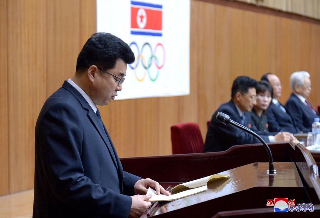 北朝鮮の金日国体育相=2018年3月、平壌(朝鮮中央通信=朝鮮通信)