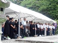 戦争体験「孫に伝えたい」 終戦の日 栃木県護国神社で追悼式