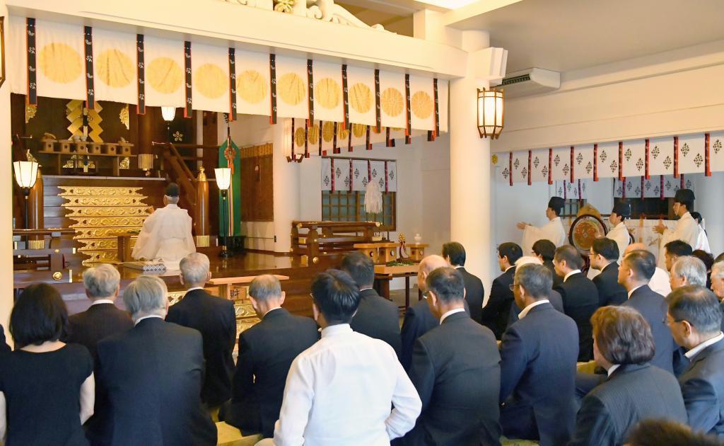 福岡県関係者をまつる県護国神社で催された追悼慰霊祭
