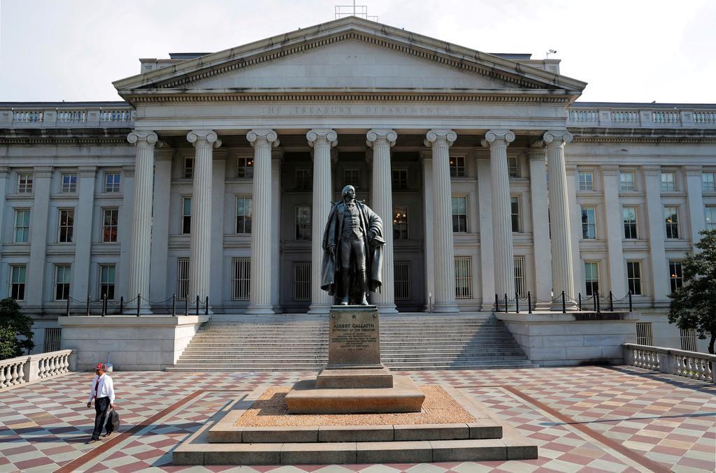 ワシントンにある米財務省(ロイター)