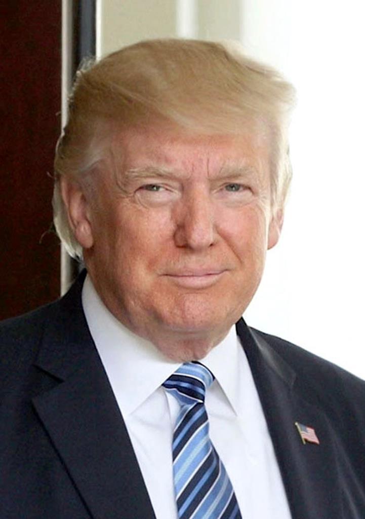 アメリカのトランプ大統領(ゲッティ=共同)