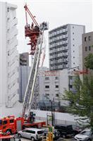 クレーンに挟まれ心肺停止 作業員、名古屋の建設現場