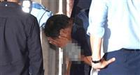 あおり運転 宮崎容疑者乗せた車、茨城県警取手署に到着