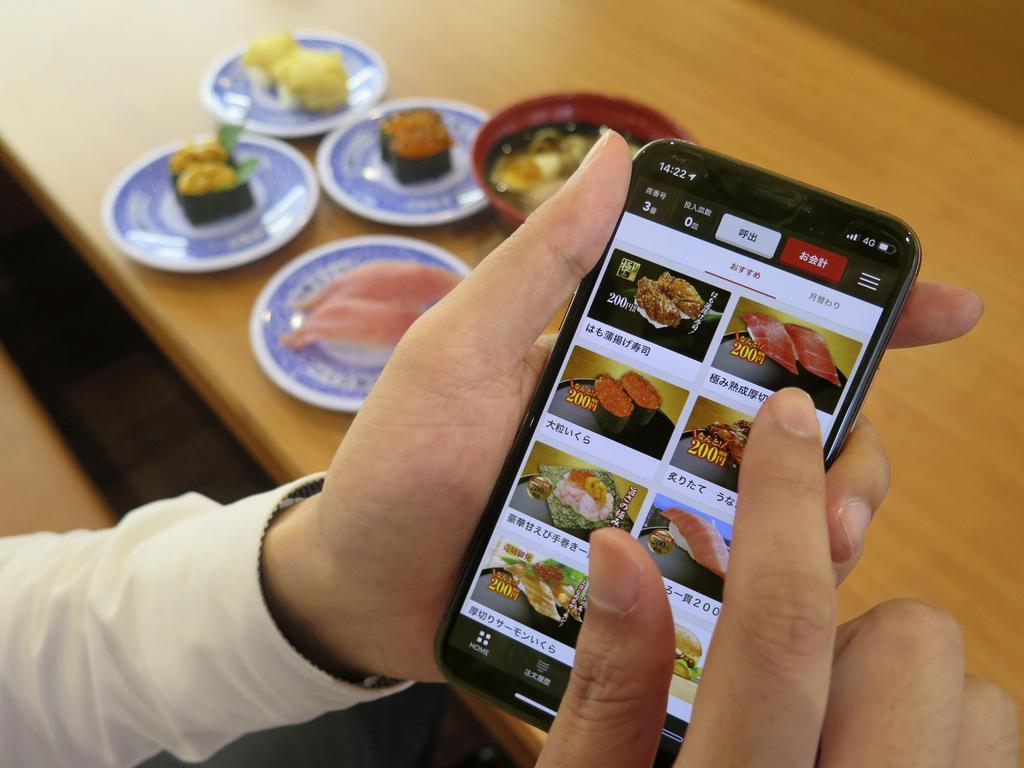 くら寿司が始めた来店前に商品を注文できるスマートフォンの画面