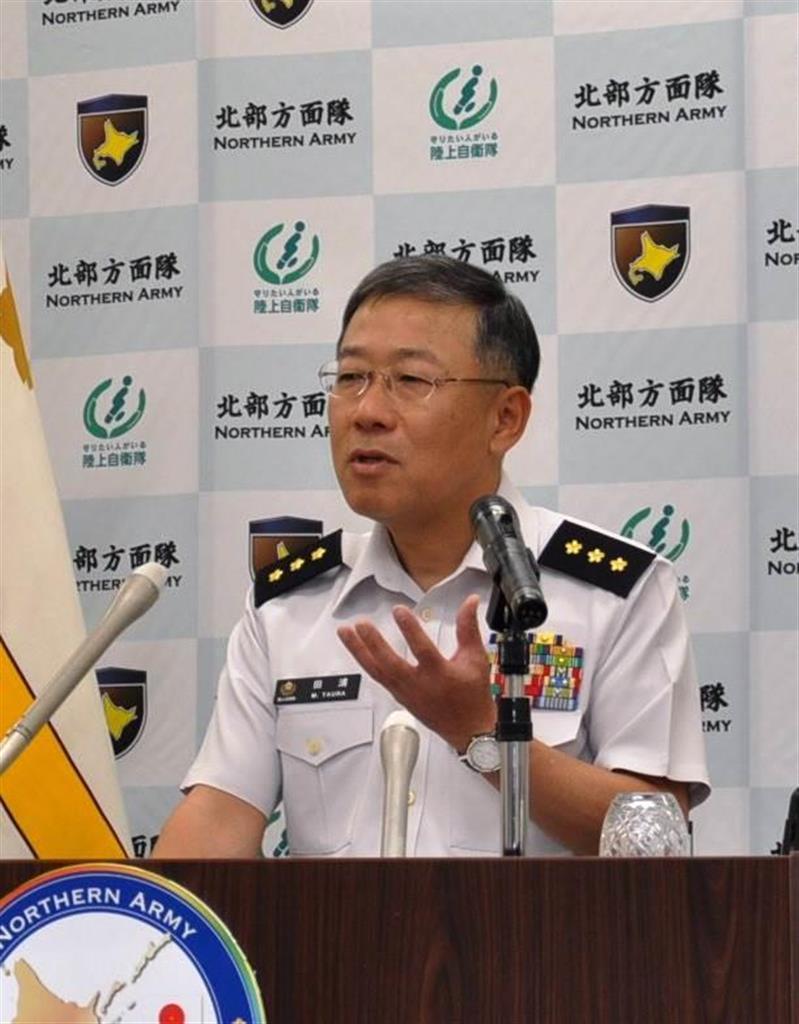 陸自北部方面総監離任会見「北海道地震、隊の真価問われた」