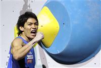 楢崎智が複合優勝で代表切符 「優勝できる感覚があった」 クライミング世界選手権
