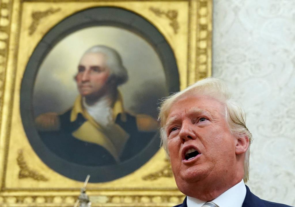 トランプ米大統領=20日、ホワイトハウス(ロイター)