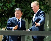日米貿易交渉始まる 茂木氏「大詰め迎えつつある」