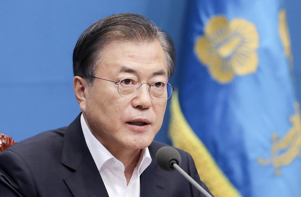 文在寅大統領(韓国大統領府提供・共同)