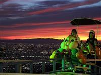 生駒山上遊園地の夜景「クールジャパン」受賞 あべのハルカスを眼下に、サイクルモノレール…