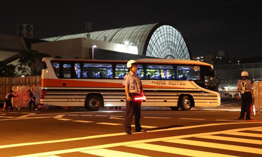 大阪G20サミットでは、さまざまな交通規制が実施された(彦野公太朗撮影)