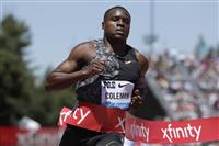 コールマンが資格停止か 陸上男子100メートルの優勝候補