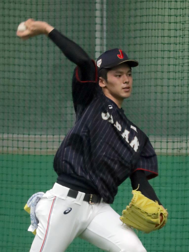 佐々木が連日ブルペン入り 野球の高校日本代表