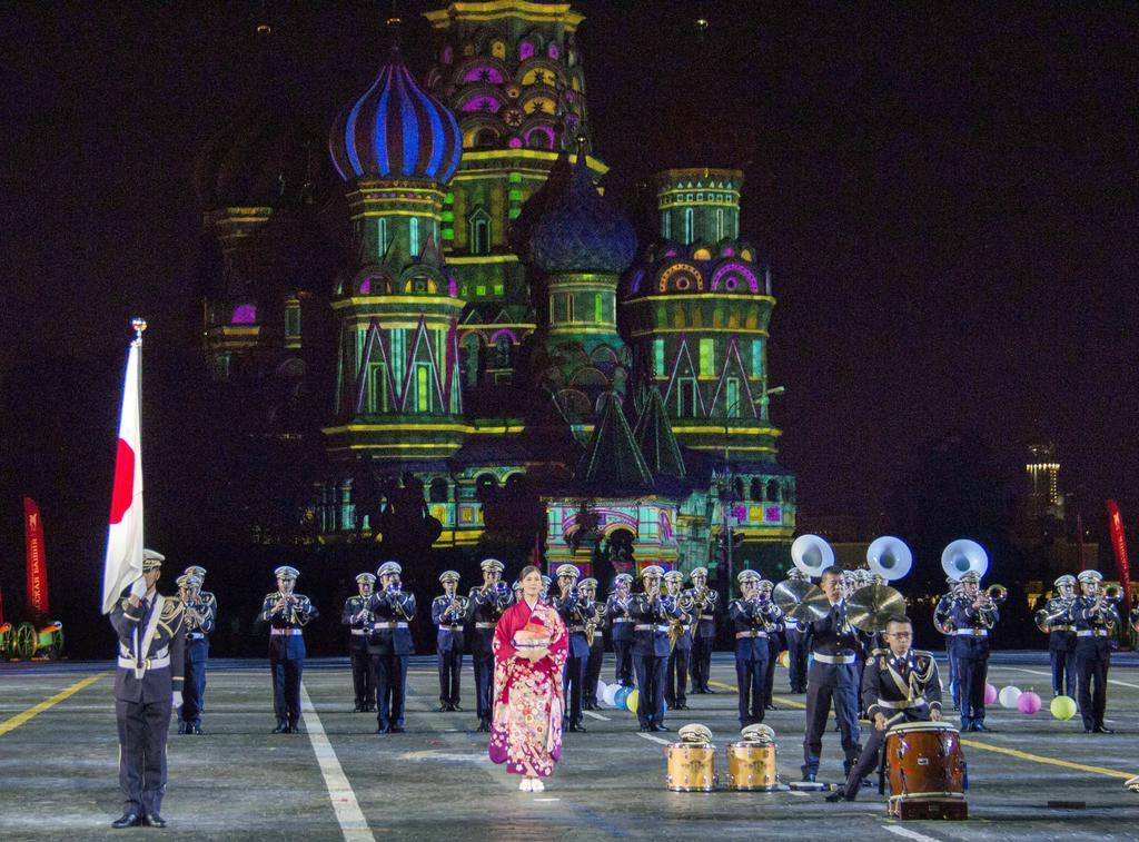 赤の広場に陸自楽団登場 モスクワで国際軍隊音楽祭