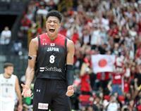 バスケ強化試合、男子日本はドイツに勝利