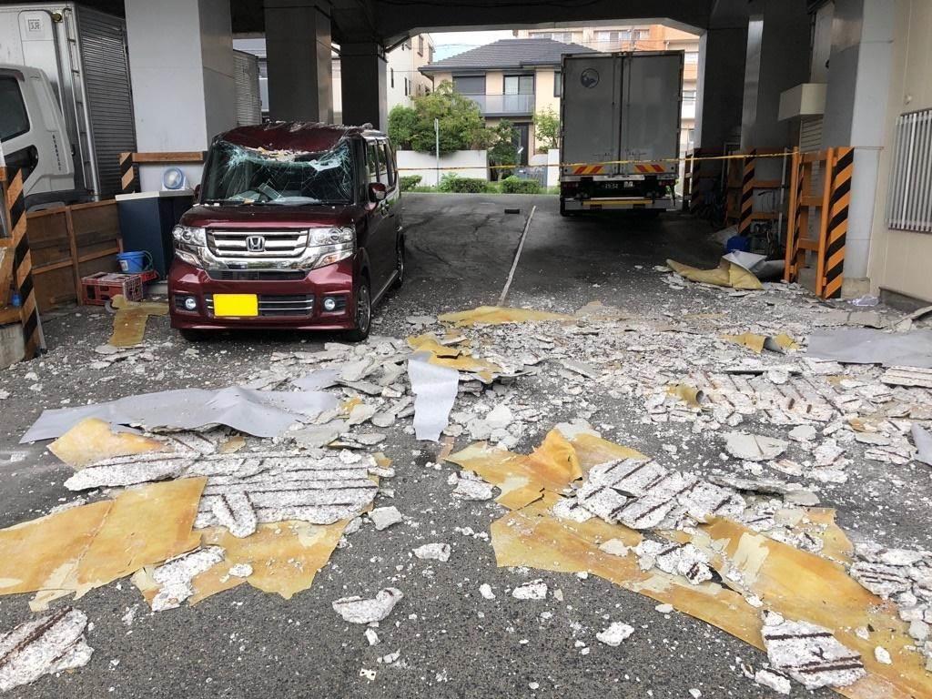 重さ1・3トンのコンクリ片、高架橋から落下 JR西