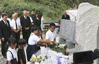 沖縄の対馬丸、奄美で追悼 撃沈75年、犠牲者漂着