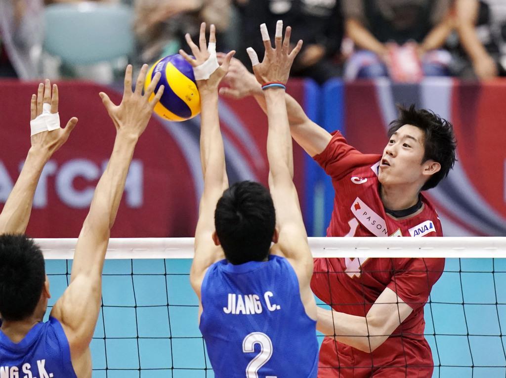 バレー男子、中国に快勝 国際親善試合
