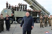 「超大型ロケット砲」試射 金氏、兵器開発の継続強調