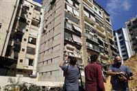 イスラエル無人機が侵入か レバノンで墜落と爆発