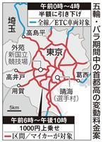 五輪中の首都高、交通規制では不十分 1000円値上げ