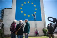 バンクシー壁画、消えた? 英南東部、上塗りか撤去か