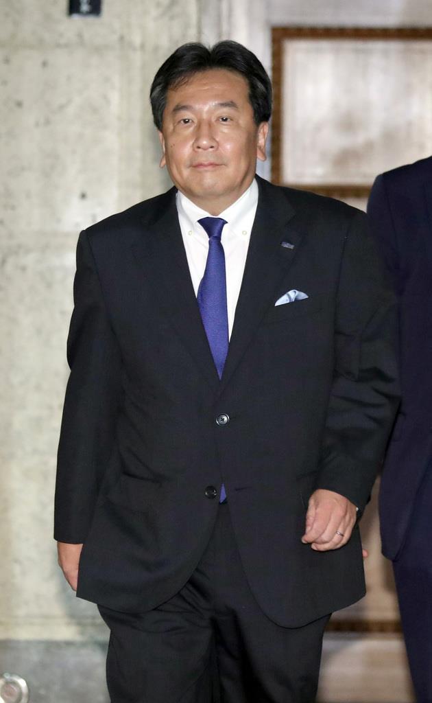 立憲民主党の枝野幸男代表=20日午後、国会内(春名中撮影)