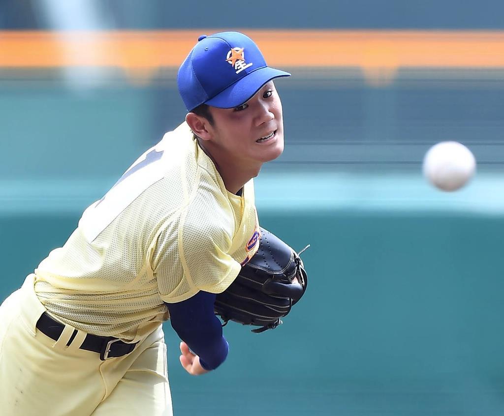 甲子園でプロ野球のスカウトもうなる快投を見せた星稜のエース奥川恭伸(岩川晋也撮影)