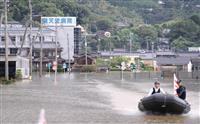 大雨から一夜、死者3人に避難者、6県1900人超 九州北部豪雨